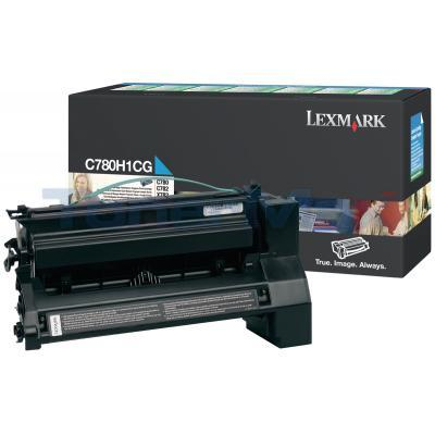 LEXMARK C780 X782 TONER CARTRIDGE CYAN 10K RP